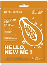 Profumi e cosmetici Maschera viso - Boys`n Berries Hello, New Me! Papaya Mask
