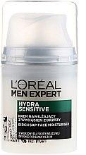 Profumi e cosmetici Crema viso idratante con estratto di betulla per pelli sensibili, uomo 25+ - L'Oréal Paris Men Expert Hydra Sensitive 25+
