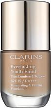 Profumi e cosmetici Fondotinta anti-età SPF 15 - Clarins Everlasting Youth Fluid (107- Beige)