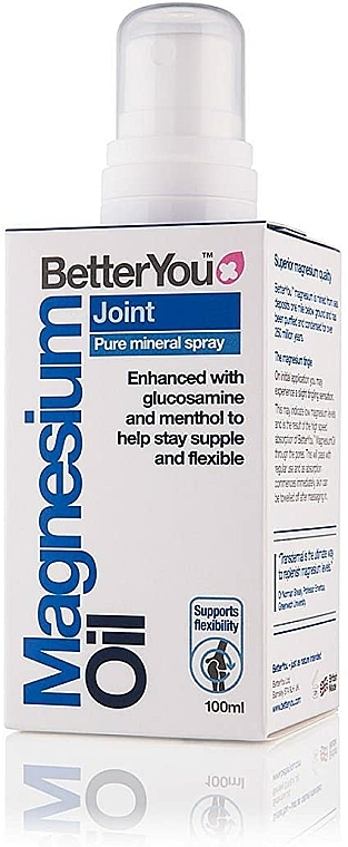 Spray corpo - BetterYou Magnesium Oil Joint Pure Mineral Spray