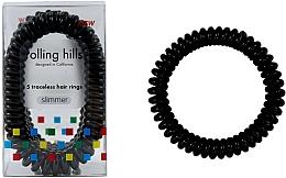 Profumi e cosmetici Elastici per capelli, neri - Rolling Hills 5 Traceless Hair Rings Slimmer Black