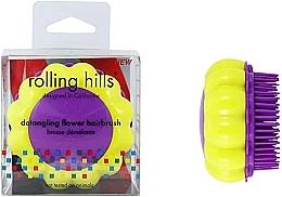 """Profumi e cosmetici Spazzola compatta per capelli """"Camomilla"""", giallo / lilla - Rolling Hills Brosse Desenredar Flower"""
