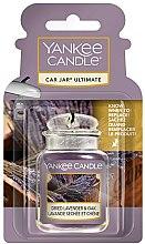 Profumi e cosmetici Aromatizzatore auto - Yankee Candle Car Jar Ultimate Dried Lavender & Oak