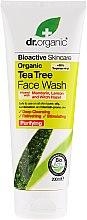 Profumi e cosmetici Gel detergente viso con estratto di tea tree - Dr. Organic Tea Tree Face Wash