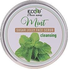 Profumi e cosmetici Scrub viso detergente alla menta e gelatina di zucchero - Eco U Cleansing Mint Sugar Jelly Face Scrub