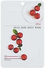 Profumi e cosmetici Maschera viso nutriente con estratto di mela - Eunyu Daily Care Sheet Mask Shea Apple