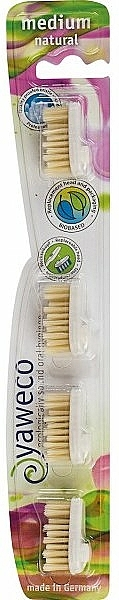 Testine intercambiabili per spazzolino di media durezza - Yaweco Replaceable Toothbrush Brush Heads Natural Medium