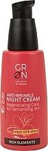 Profumi e cosmetici Crema antirughe da notte all'olio di argan e oliva - GRN Rich Elements Argan Oil & Olive Night Cream