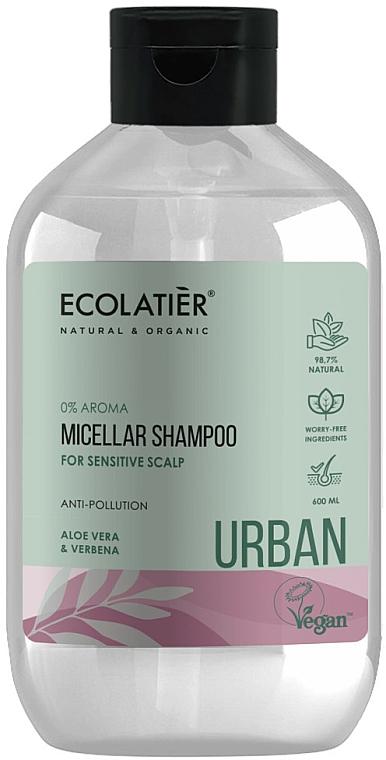 """Shampoo micellare per cuoio capelluto sensibile """"Aloe Vera e Verbena"""" - Ecolatier Urban Micellar Shampoo"""