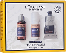 Profumi e cosmetici Set - L'Occitane Man Travel Set (sh/gel/75ml + deo/50ml + after/shave/balm/75ml)