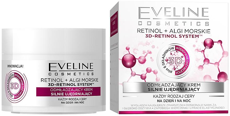 "Crema rigenerante ""Lifting intenso"" per tutti i tipi di pelle - Eveline Cosmetics Retinol+Sea Algae Intensely Firming Rejuvenating Cream"
