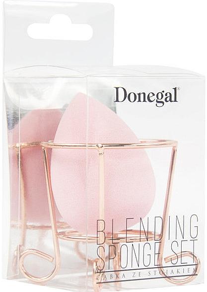 Spugna trucco in cestino, rosa - Donegal