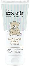 Profumi e cosmetici Crema per cambio pannolino con zinco - Ecolatier Baby Diaper Cream With Zinc