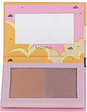 Profumi e cosmetici Bronzer viso - Moira Golden Rays Bronzed Goddess Duo