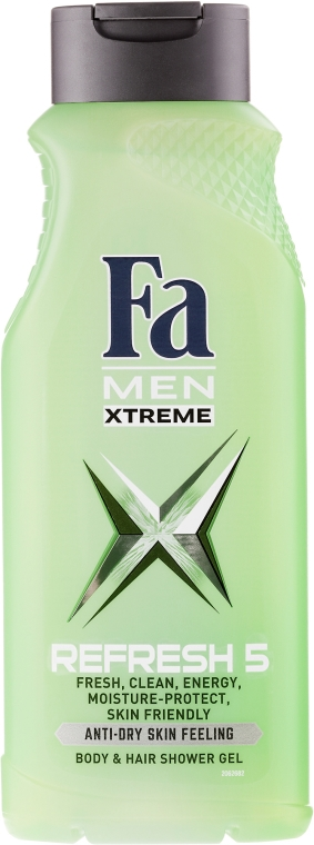 "Gel doccia ""Men Xtreme Refresh 5"" - Fa Men — foto N1"