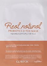 Profumi e cosmetici Maschera probiotica in tessuto per pelli disidratate, spente con i primi segni del tempo - Glamfox Probiotics D-Tox Mask