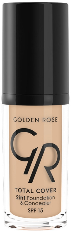 Fondotinta-correttore - Golden Rose Total Cover 2in1 Foundation & Concealer