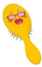 Profumi e cosmetici Spazzola per capelli 2003W, smile con occhiali - IDC Design XL Detangle Brush