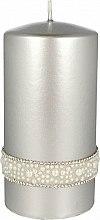 Profumi e cosmetici Candela decorativa in argento, 7x14cm - Artman Crystal Opal Pearl