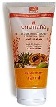 "Profumi e cosmetici Gel detergente per viso ""Aloe vera e papaya"" - Orientana Face Gel Cleanser Aloe & Papaya"