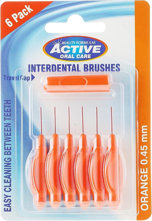 Spazzolini interdentali, 0,45 mm, arancione - Beauty Formulas Active Oral Care Interdental Brushes