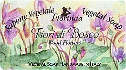 "Profumi e cosmetici Sapone naturale ""Fiori di bosco"" - Florinda Sapone Vegetale Vegetal Soap Wood Flowers"
