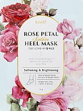 Profumi e cosmetici Maschera ammorbidente per talloni - Petitfee&Koelf Rose Petal Satin Heel Mask