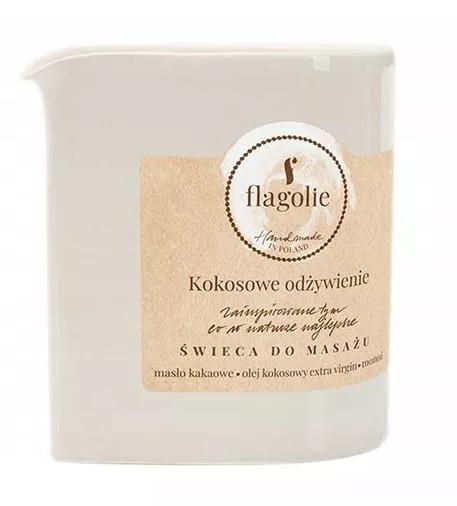 "Candela da massaggio ""Cocco nutriente"" - Flagolie Coconut Nutrition Massage Candle"