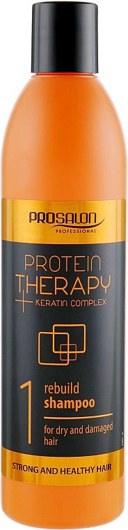 Shampoo senza solfati - Prosalon Protein Therapy + Keratin Complex Rebuild Shampoo