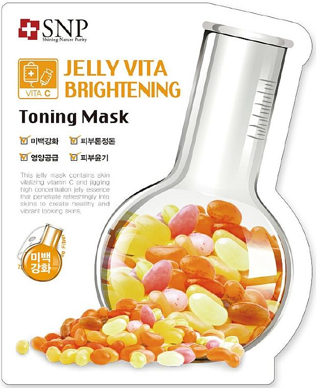 Maschera viso in tessuto con vitamina C. - SNP Jelly Vita Brightening Toning Mask — foto N1
