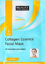 Profumi e cosmetici Maschera viso in tessuto - Beauty Formulas Collagen Essence Facial Mask