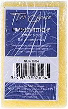 Profumi e cosmetici Pomice sintetica doppio, giallo, 71034 - Top Choice