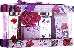 "Profumi e cosmetici Set ""Fiori di primavera con argan"" - Spa Moments Spring Flowers With Argan (sh/gel/100ml + salt/50g + sh/gel/100ml + salt/50g)"
