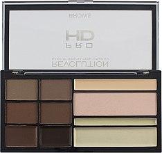 Profumi e cosmetici Palette per modellare sopracciglia - Makeup Revolution HD Pro Brows