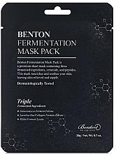 Profumi e cosmetici Maschera con ingredienti fermentati e peptidi - Benton Fermentation Mask Pack