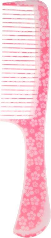 Pettine per capelli, 21.6 cm, 9811, rosa - Donegal Floral Hair Comb — foto N1