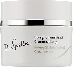 Maschera-crema idratante e lenitiva con olio di iperico - Dr. Spiller Honey St.John's Wort Cream Mask — foto N1