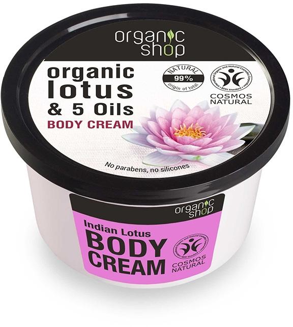 "Crema corpo ""Loto indiano"" - Organic Shop Body Cream Organic Lotus & Oils"