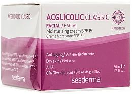 Profumi e cosmetici Crema idratante - SesDerma Laboratories Acglicolic Classic Moisturizing Cream SPF 15