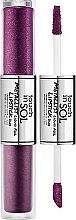 Profumi e cosmetici Rossetto liquido doppio - Touch In Sol Metallist Liquid Foil Lipstick Duo
