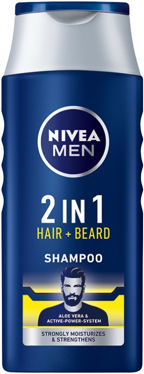 Shampoo per capelli e barba 2 in 1 - NIVEA Men 2 in 1 Protect & Care Shampoo