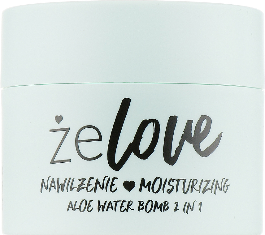 Gel idratante per viso, collo e decolleté - FlosLek ZeLove Moisturizing Aloe Water Bomb 2in1