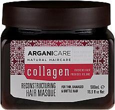 Profumi e cosmetici Maschera capelli al collagene - Arganicare Collagen Reconstructuring Hair Masque