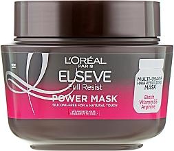 Profumi e cosmetici Maschera rinforzante per capelli indeboliti - L'Oreal Paris Elseve Full Resist Power Mask