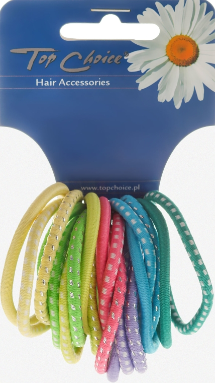 Elastici per capelli, 20 pezzi, colori misti, 22159 - Top Choice — foto N1