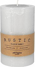 Profumi e cosmetici Candela profumata, 7x11,5 cm., grigia - Artman Rustic