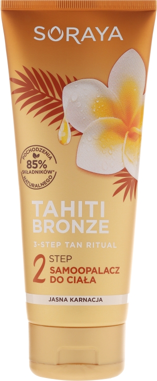 Lozione autoabbronzante corpo - Soraya Tahiti Bronze 2 Step Lotion for Light Skin