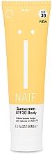 Profumi e cosmetici Crema solare per il corpo - Naif Sunscreen Body Spf30