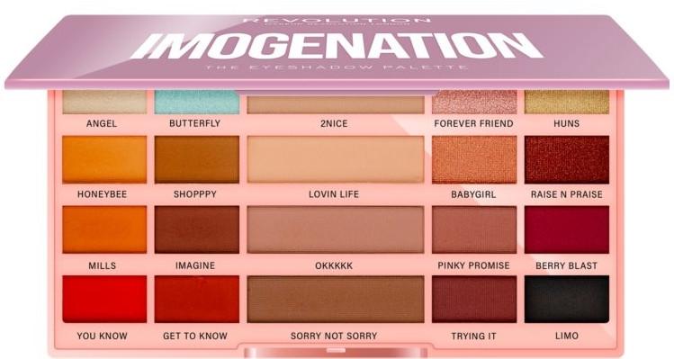 Palette ombrett - Makeup Revolution X Imogenation Eyeshadow Palette