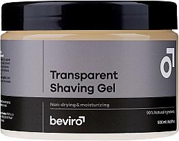 Profumi e cosmetici Gel da barba trasparente - Beviro Transparent Shaving Gel